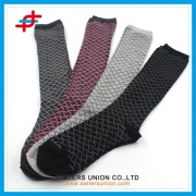 Bayanlar moda yüksek ayak bileği Spandex Pamuk Çorap Argyle çorap tasarlanmış