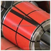 Bobina de acero galvanizado Prepainted rojo luminoso