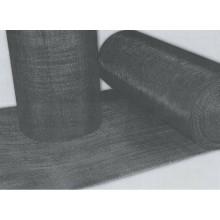 Tissu en fil noir / maillage métallique noir