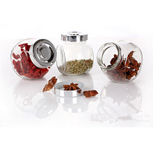 Hot Sale Clear Empty 380ml Glass Candy Jars with Caps