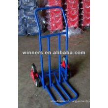 Stair climbing hand truck with triangle wheel