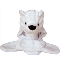 Polar bear animal hat with scarf earmuff and mitten design