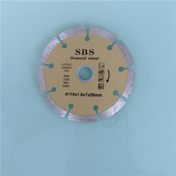 Dry Diamond Cutting Wheels for Marble and Tile