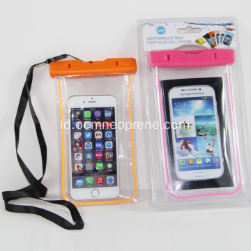 Colorful PVC Waterproof Phone Covers untuk Mengambang