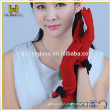 Women' gloves custom any color lady Wool fur touch screen warm wool gloves
