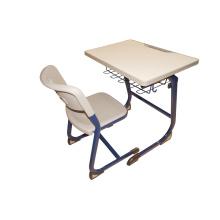 Möbel-Plastikstudenten Einzelner Schreibtisch und Stuhl mit offener vorderer Metallbuch-Kasten