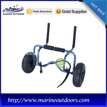 adjustable dark blue frame kayak trolley with foam pad