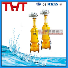 Válvula de compuerta de seguridad para tuberías de equipos de prevención