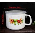 16cm(2000ml) enamel mug with popular decal