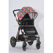 Нежная детская прогулочная коляска 3-в-1 с рамкой из алюминиевого сплава