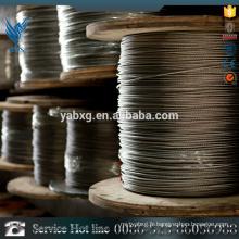 Câble à fils en acier inoxydable recouvert de plastique personnalisé à prix avantageux