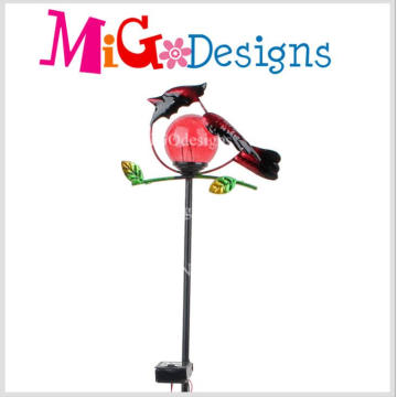 The Red Hummingbird Glass Lamp Solar Garden Stakes