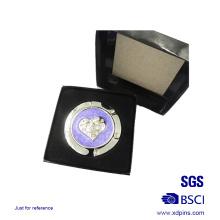 Cintre de sac coeur en cristal de mode avec boîte (B4)