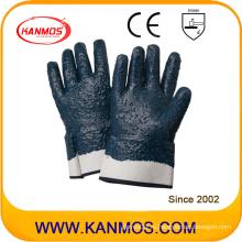 Нитриловая трикотажная рабочая перчатка промышленной безопасности с грубой отделкой (53005)