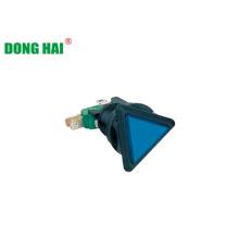 Blaue Dreieck-Druckknopfschalterlampe