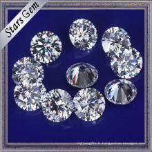 Grande taille zircon cubique blanc de 12mm pour les bijoux de mode
