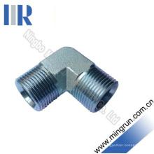 Connactor hidráulico del tubo de la entrerrosca del adaptador masculino de Bsp del codo (1B9)