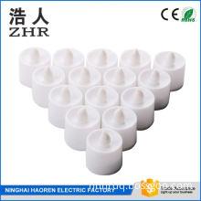wedding favors smoke-free 3.8cm diameter round shape water floating t-lite tea light candle in bulk