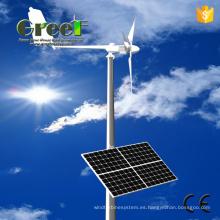 Sistema híbrido solar eólico con controlador e inversor