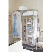 Portable Metal Bedroom Wardrobe with Oxford Cloths Fabric Cover