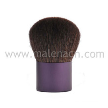 Kabuki Brush with Purple Ferrule in Natural Hair