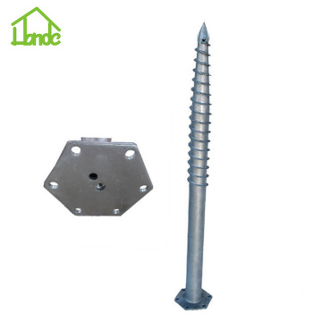 Hexagon Flange Ground Screw Piles