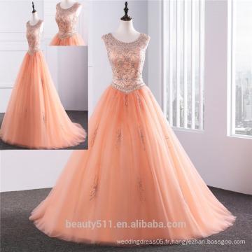 Robe de bal Tulle Quinceanera 2018 avec pierres précieuses perlées en pierres précieuses perlées en robe de mariée en robe de mariée ED0254