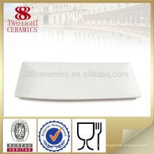 Plato de porcelana blanca plana platos de comida rápida, platos de cena al por mayor