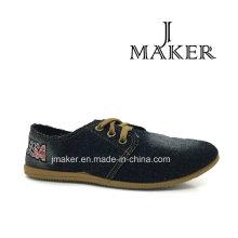 Zapatillas deportivas de mujer china con inyección de suela de PVC (JM2040-L)