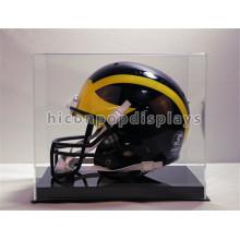 Cubierta superior de acrílico superior transparente Base de metal única cubierta de la motocicleta o casco de fútbol americano