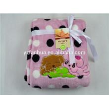 caja de empaquetado de manta de paño grueso y suave hecho punto del bebé venta por mayor