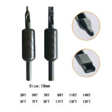 Professional Plastic Pre-sterilized Disposable Tattoo Grip with Tip & Tube 18mm(B312-1)