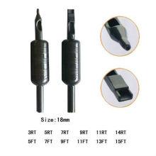 Profissional de plástico Pre-esterilizado descartável Tattoo Grip com ponta e tubo de 18 mm (B312-1)