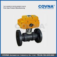 Válvula eléctrica de brida de PVC con 12v 24v 220v 380v actuador eléctrico