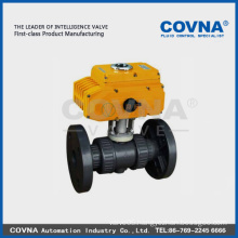 PVC flange electric valve with 12v 24v 220v 380v electric actuator