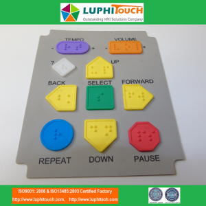Molding Blind Dots on Buttons Silicone Rubber Keypad