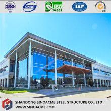Edifício de estrutura de aço de piso múltiplo para escritório