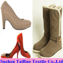 100% Polyester Micro Suede pour Lady Shoes Fabric