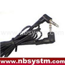 Mâle stéréo 3,5 mm à 3,5 mm stéréo câble mâle angle droit