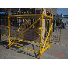 Yellow Building Construction Safety Scaffolding Tie Bar Hot Dip Galvanization