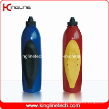 Plastik-Sport-Wasser-Flasche, Plastik-Sport-Wasser-Flasche, 600ml Plastik-Getränk-Flasche (KL-6644)