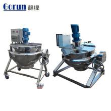 Chaleira de cozimento Jacketed de aço inoxidável industrial do produto comestível de grande capacidade de 200 litros
