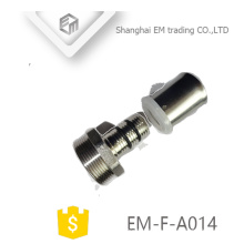 ЭМ-Ф-A014 латунные прямые клавишу подключения хромированный адаптер трубы штуцер