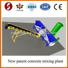 No necesita fundación hormigón planta mezcladora, Stress piernas móvil hormigón planta mezcladora