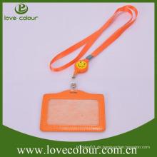 Günstige benutzerdefinierte dekorative Lanyard für PU-Kartenhalter / Abzeichen