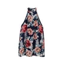 Frauen Neckholder Neck Floral Summer Casual Dress