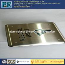 Präzisions-CNC-Bearbeitung Tür Logo-Platte, Logo-Platte für Fabrik und Maschine