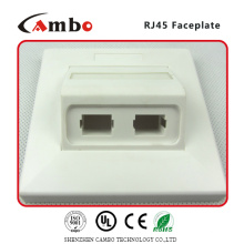 Proveedores de China 1/2/4 Puerto Australia placa de pared cat 6 rj45 caja de montaje en superficie