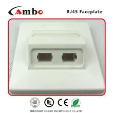 Fornecedores da China 1/2/4 Port Australia placa de parede cat 6 rj45 caixa de montagem de superfície
