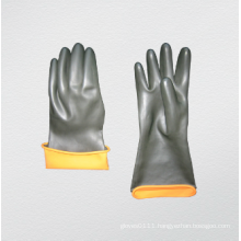 Heavy Duty Double Color Industrial Latex Glove (5601)